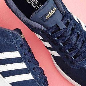 Adidas Neo Courtset Women's Suede Sneakers Navy